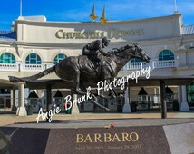 Churchill Downs with Barbaro's Statue in front