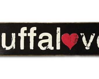 buffalove wooden sign