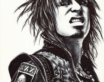 Nikki Sixx - Signed Print