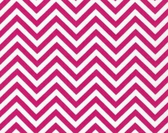 Hot Pink Chevron Fabric - Remix by Ann Kelle from Robert Kaufman. Zig Zag pattern. 100% cotton. AAK-10394-110