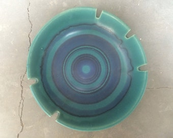 Glidden Pottery Ashtray Gulfstream Pattern Designed By Fong Chow