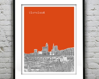 Cleveland SkylinePoster Print Art Ohio OH Version 1
