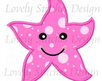 Starfish Applique Machine Embroidery Design NO:0334
