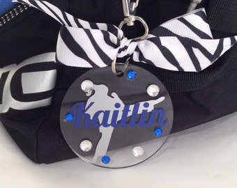 Martial arts girl Bag Tag, Personalized