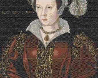Catherine Parr cross stitch pattern