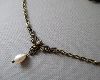 brazen Necklace with pearl