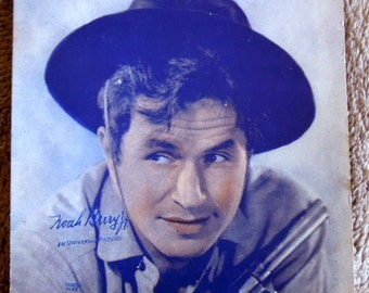 Noah Beery Jr. Hollywood Film Actor, TV Star Autographed Photo 1940's