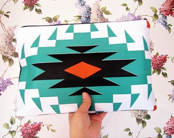 Ethnic Clutch -Ethnic Print Clutch -Hand Bag -Hippie Wedding Accessories