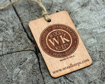 Custom Wood Branding/Gift/Event Tags - Single Sided [sets of 10]