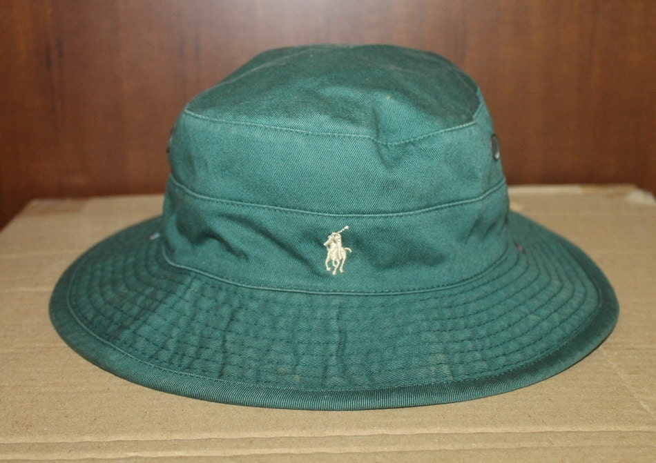 Vintage polo ralph lauren classic pony bucket hat hunting for Polo fishing hat