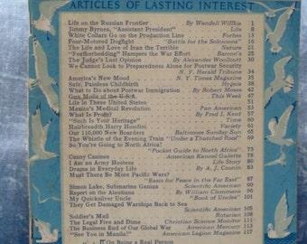 Vintage Reader's Digest Magazine March 1943 Price Reduced