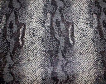 """Grays Foil Snakeskin Animal ITY Print #66 2-Way Stretch Knit Polyester Lycra Spandex Apparel Craft Fabric 58""""-60"""" Wide By The Yard"""