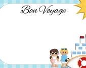 Customised Bon Voyage card - Digital