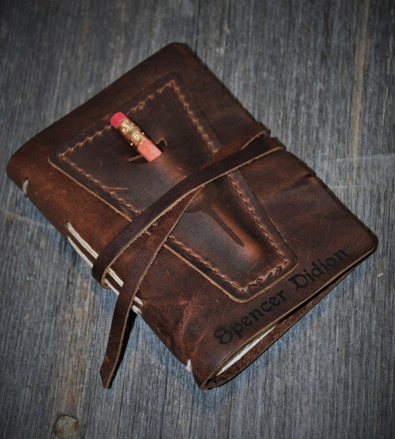 Engraved Leather Golf Log Laser Engraved Personalized Diary