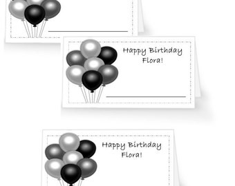 12 Personalized Birthday Place Cards