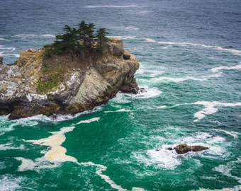 Waves & rocks in Pacific Ocean, Julia Pfeiffer Burns State Park, Big Sur, California- Landscape Photography Fine Art Print or Wrapped Canvas