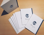 Custom listing: Hand-cut Thank You Card with Logo for The Trium Group