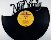 Recycled Vinyl Record NEIL YOUNG Wall Art