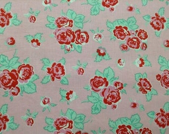 Red floral on a pink background from Milk, Sugar & Flower by Elea Lutz for Penny Rose/Riley Blake fabrics by the yard100% cotton