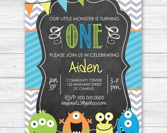 Our Little Monster Birthday Invitation