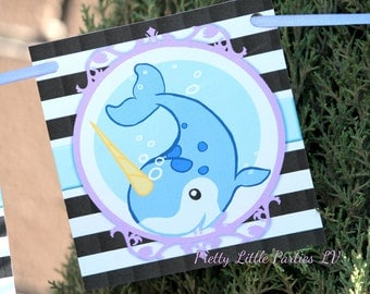 Narwhal Birthday Banner - Girls - Party Decor - Decorations - Nautical - Theme - Photo prop
