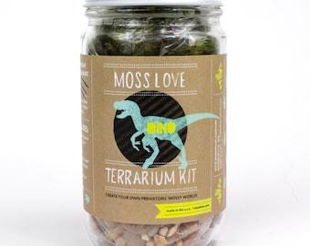 DIY Moss Terrarium Kit // Dino