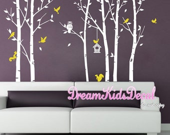 Owl Tree Wall Decal , Nursery, Baby, children wall decal, wall decor, home decor, Wall Stickers -DK167
