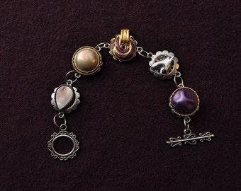 Purple & Gold Vintage Bracelet (Item#BV28)