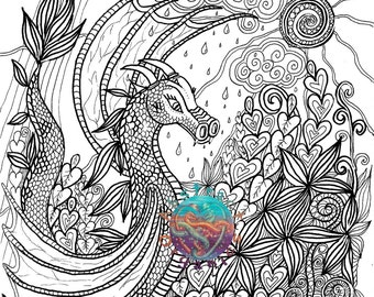 Free Downloads Colouring Mindfulness Dragons Search By Sunflower Mandala Pdf In