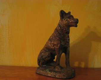 Vintage Cast Iron German Shepard Doorstop