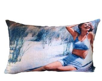 girl on the beach cushion