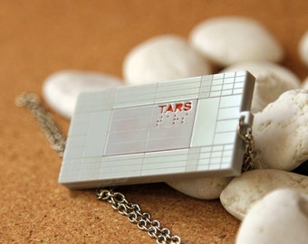 TARS Robot Necklace inspired from Interstellar Movie in Grey Color
