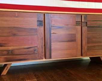 Custom Rustic Mid Century Modern Reclaimed Wood Buffet Cabinet/ Credenza / Storage Cabinet / Entertainment Center
