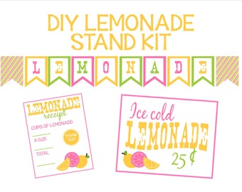 Lemonade Stand Kit-Printables for a Lemonade Stand