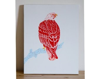 Bald Eagle Painting on Wood
