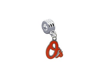 Baltimore Orioles MLB European Charm for Bracelet, Necklace or DIY Jewelry