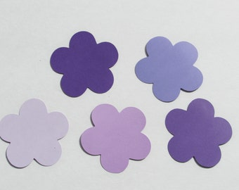 Purple paper  flower die cuts/ 25pc set / --choose size--