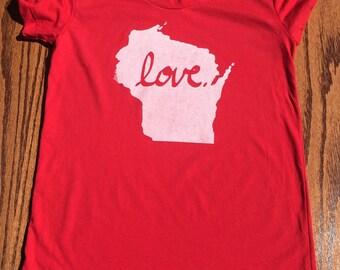 Women's Love Wisconsin T-Shirt