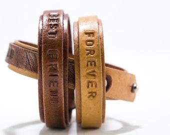 2x Couple Bracelet, Matching Bracelet, His and Her Bracelet, Custom Bracelet, Engraved Bracelet, Leather Bracelet, His Hers Bracelet, Cuff