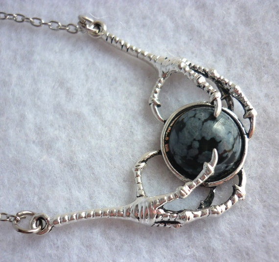 the necklace black obsidian gemstone