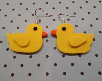 Rubber Ducky Earrings - Polymer Clay