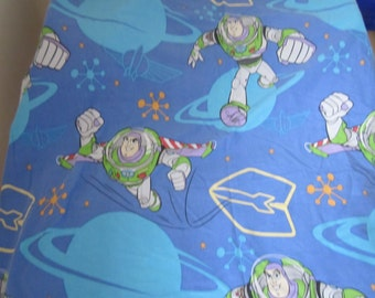 Disney Buzz Lightyear Twin Duvet Cover , 90's TV Children's Bedding, To Infinity And Beyond