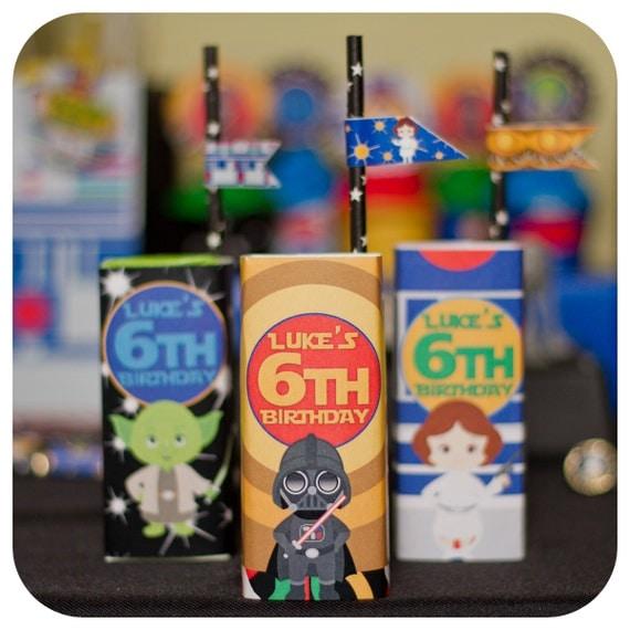 Star Wars; Star Wars Juice Box Wrappers; Star Wars Birthday Party decor; Star Wars decor; Star Wars Party; Star Wars Party Decor; Star Wars