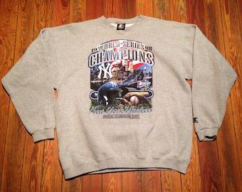 Vintage 90's New York Yankees Starter Sweatshirt. World Series Champs. XL
