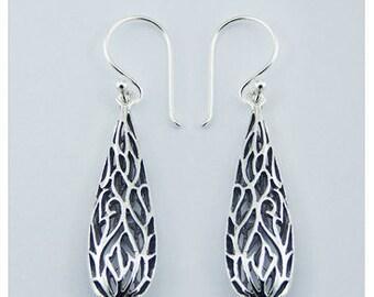 Elegant Styled 925 Sterling Silver Drop Earring