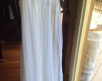 Vintage Adorable Lingerie Gown White