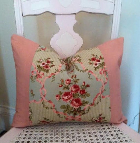Shabby Chic Decorative Pillows : Shabby Chic Cottage Chic Pillow Cover Decorative Pillow