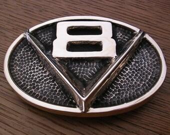V8 Emblem Belt Buckle