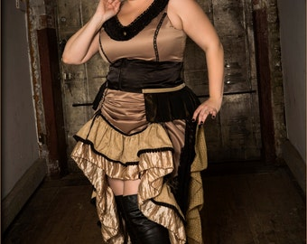 Steampunk bustle dress plus sized