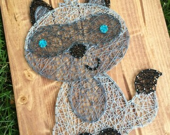 MADE TO ORDER String Art Raccoon Sign
